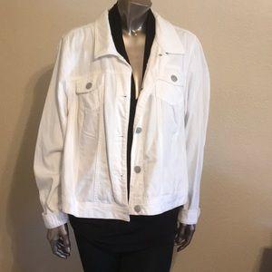 Soft jean jacket white